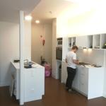 gemeenschappelijke keuken en eetruimte