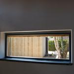 zicht van leefruimte naar binnentuin